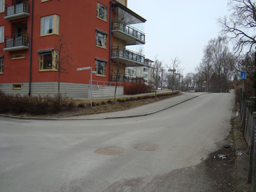 Korsningen Karl Dahlgrensgatan och Åsgatan