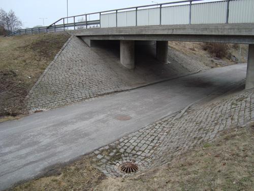 Närmare bild på tunneln
