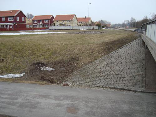 Platsen där kvinnan hittades